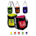 Twelve pack cylinder beach cooler