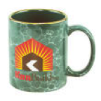 11oz cofffee mug  marbleized mug with C shaped handle