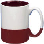 coffee mug - 13.5 oz split color ceramic,