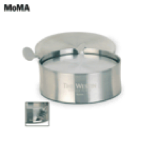 MoMA- -6 Brushed Stainless Coasters