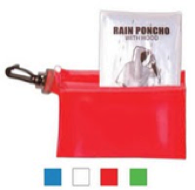 Emergency Rain Poncho in zipper tote